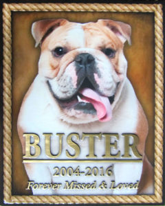 Pet Memorial Plaque Buster the Dog