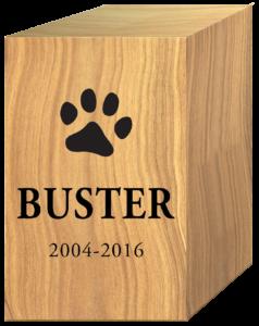 Wood Pet Cremation Urn Buster