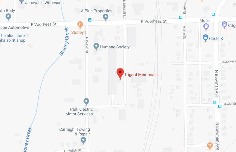 Trigard Memorials - Google Map