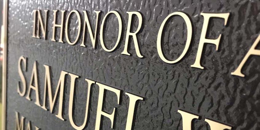 Bronze Memorial Finishing Process