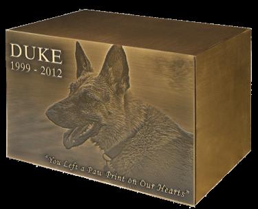 Pet Cremation Urn Collage Dog