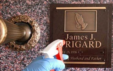 Clean Grave Marker Soap Water