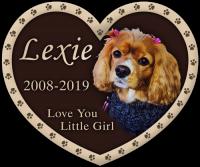 Dog Heart Grave Memorial Marker