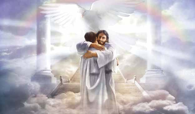 Jesus Hugging In Heaven