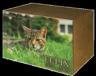 Pet Cat Collage Urn